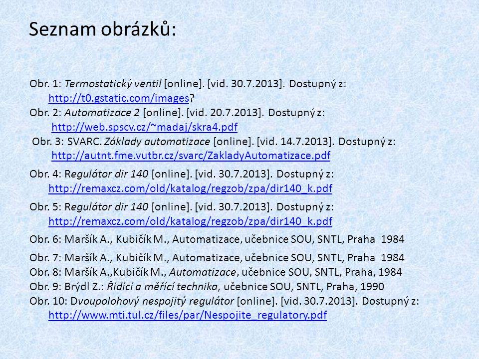 Seznam obrázků: Obr. 1: Termostatický ventil [online]. [vid. 30.7.2013]. Dostupný z: http://t0.gstatic.com/images